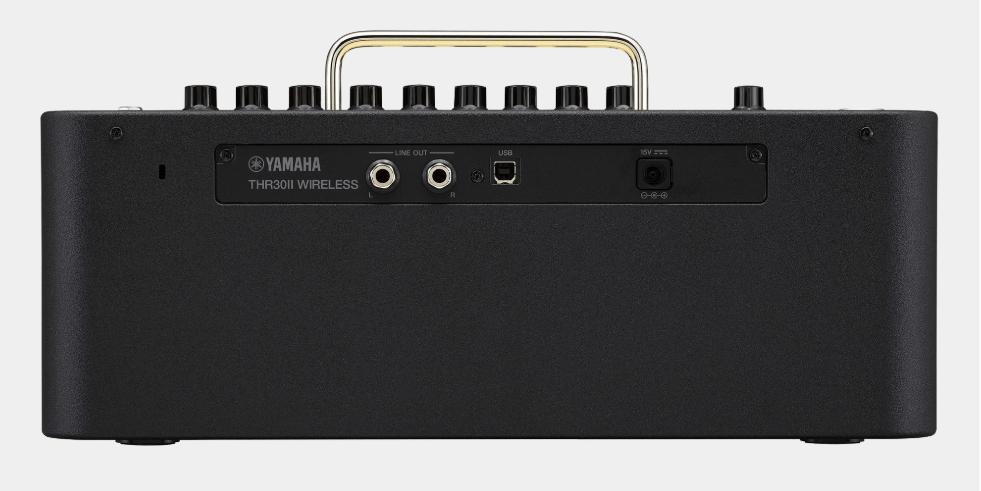 """Yamaha THR30II con salidas de 6.5 mm / 1,4"""""""