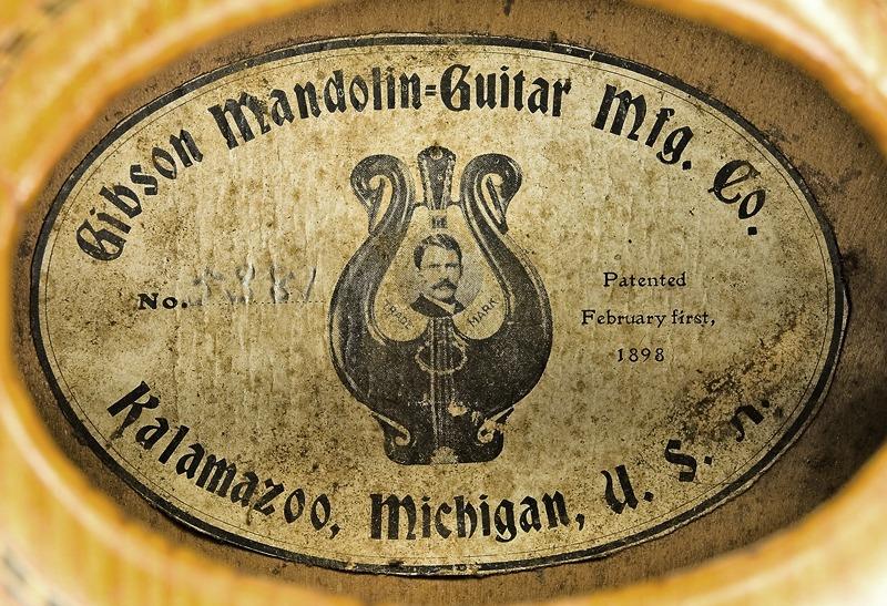 Etiqueta de la Gibson Mandolin Guitar Mfg. Co., Ltd.