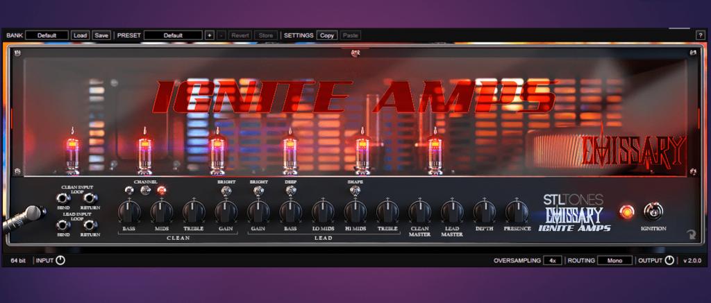 Imagen del amplificador virtual de Ignate Amps Emissary.