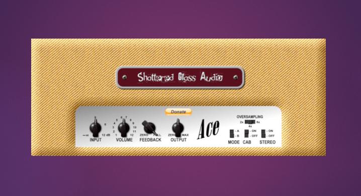 Imagen del emulador del amplificador Fender de Shattered Glass Audio Ace