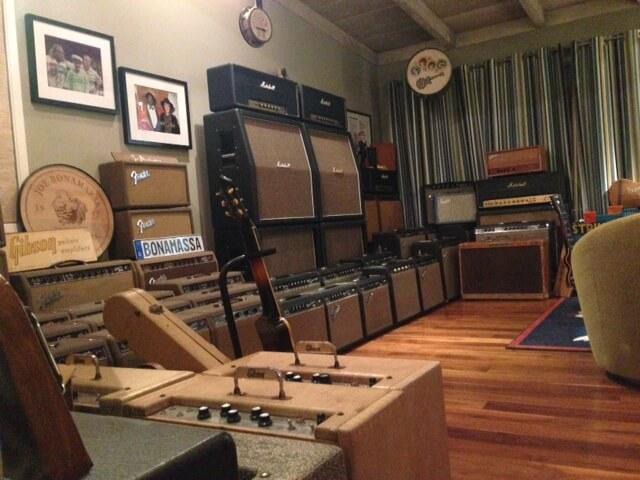 Parte de la colección de amplificadores de Joe Bonamassa