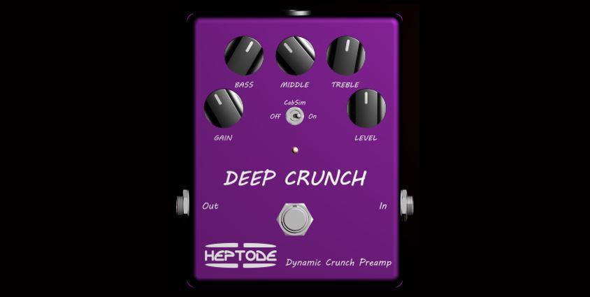 Plug-ins de pedales de guitarra gratuitos: Heptode Deep Crunch