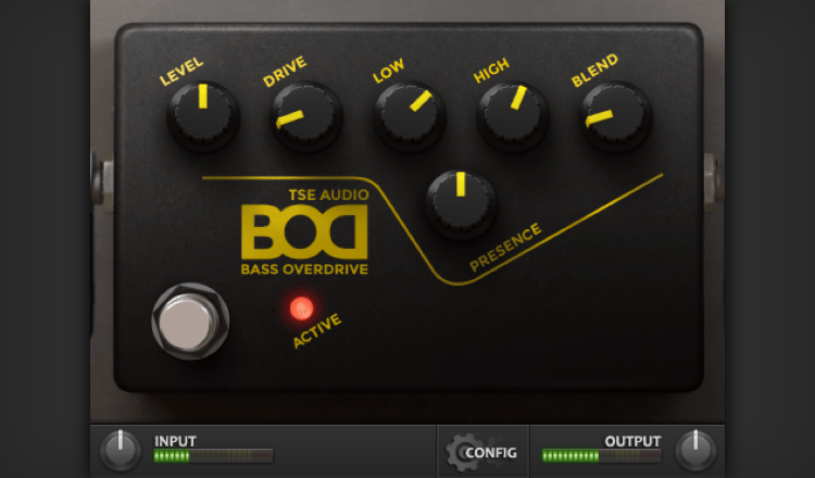 TSE BOD Bass Overdrive basado en el Tech 21 Bass Sansamp.