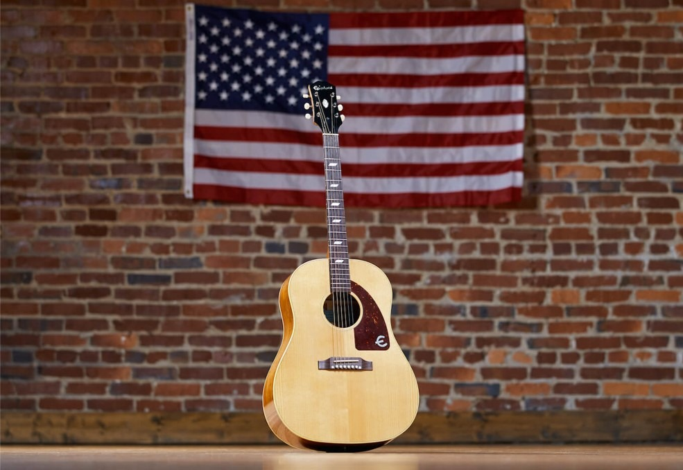 In den USA gebaute Epiphone-Akustikgitarren, die der Tradition und den Wurzeln dieser großartigen Gitarrenfirma entsprechen.