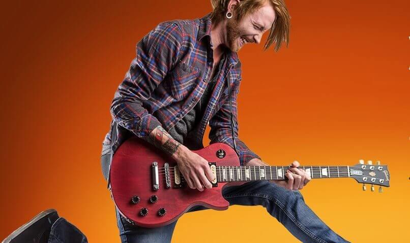 LPJ Cherry Satin Gitarre