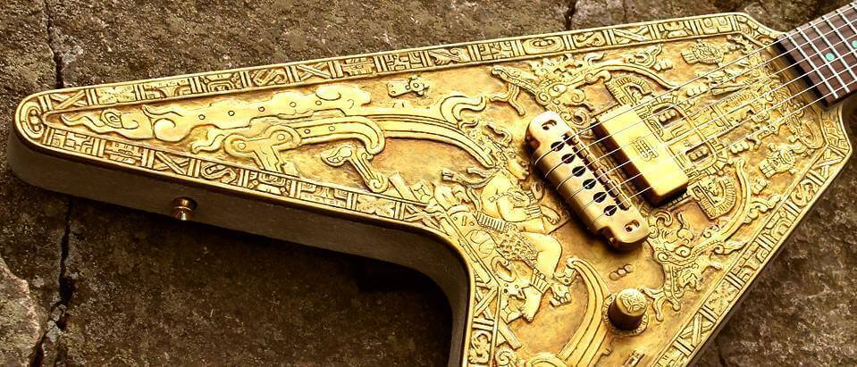 Hutchinson Mayan Model Electric Guitar, a variant of Viking guitars.