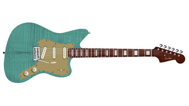 Fender Strat Jazz Deluxe de la serie Parallel Universe II