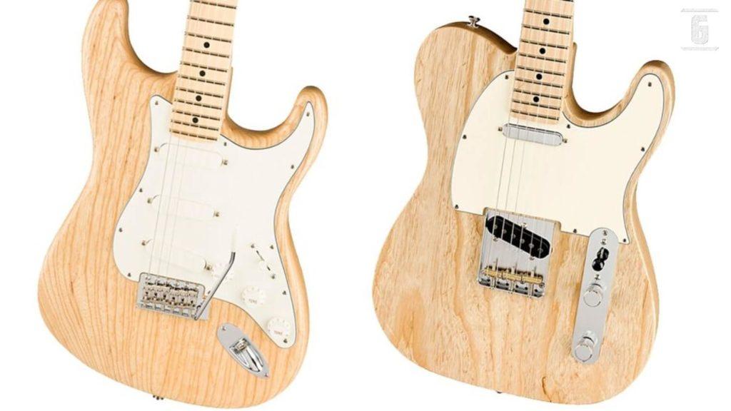 Fender lanza la edición limitada Raw Ash Stratocaster y Telecaster