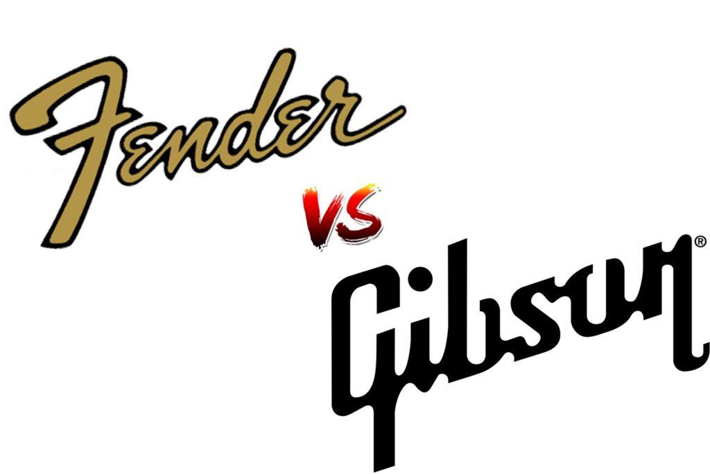 Logos de Fender y Gibson