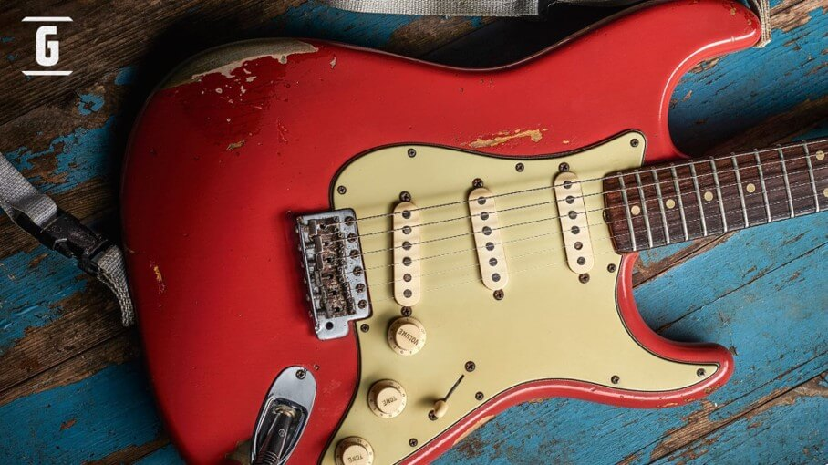 Fender Stratocaster Gary Moore Red Fiesta Custom Shop Limited Edition.