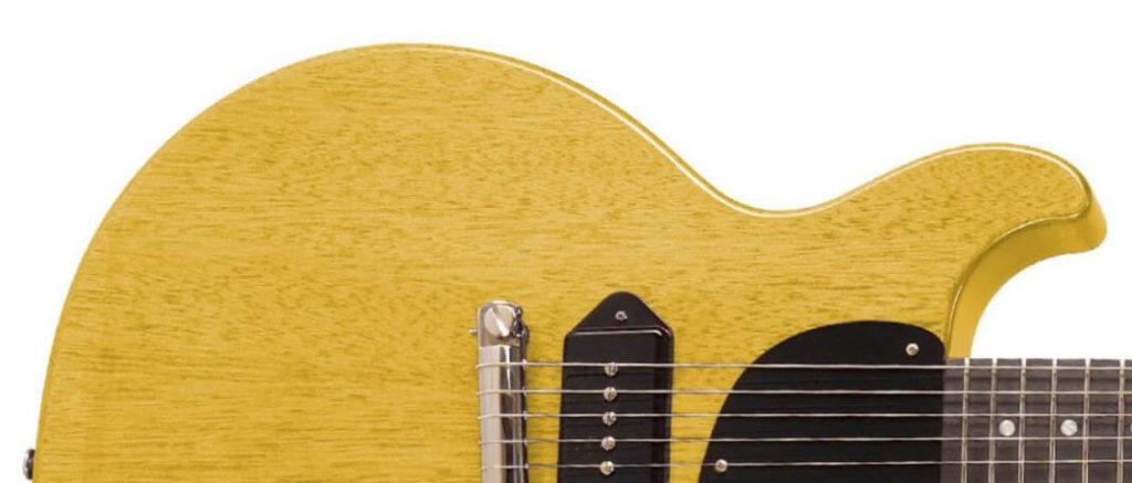 Gibson Les Paul Junior Double Cut contemporánea con acabado TV Yellow