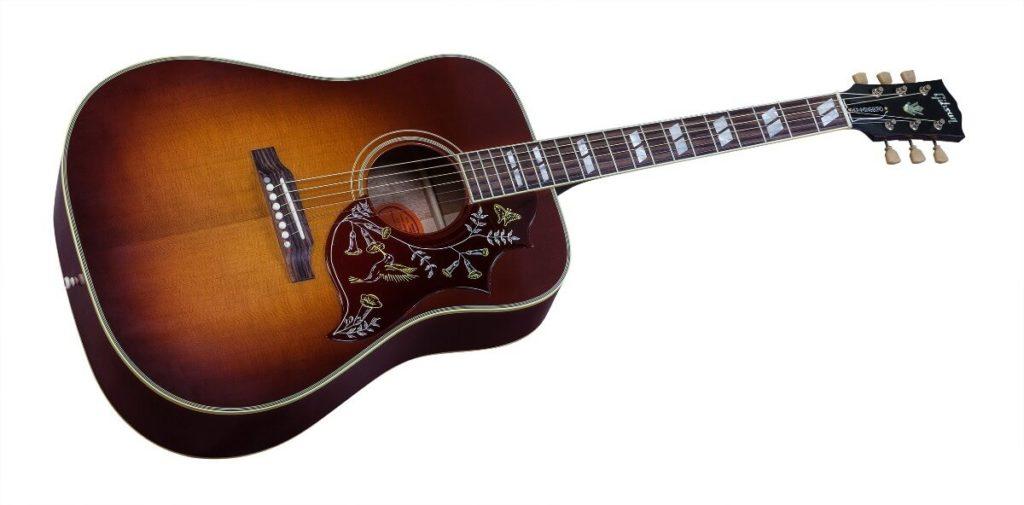 Gibson Hummingbird Pro, ein Akustikgitarren-Klassiker, für Anfänger Epiphone bietet eine günstigere Version.
