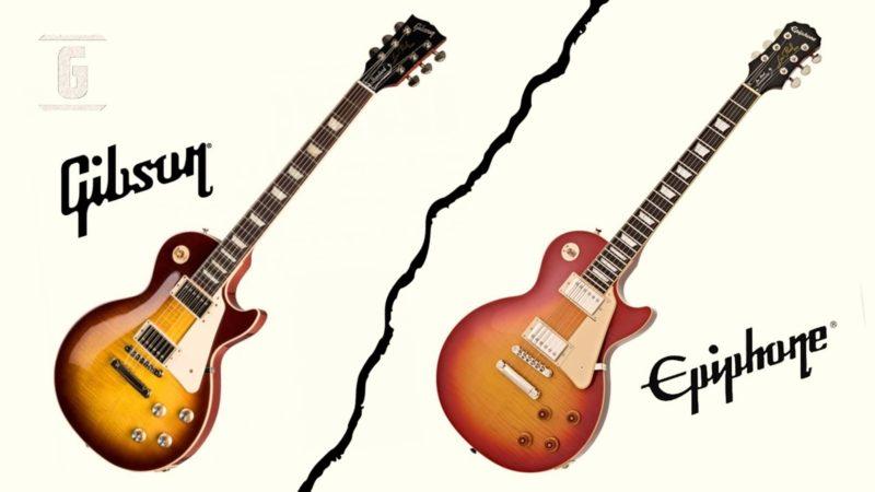 Gibson Les Paul vs Epiphone Les Paul: características y diferencias