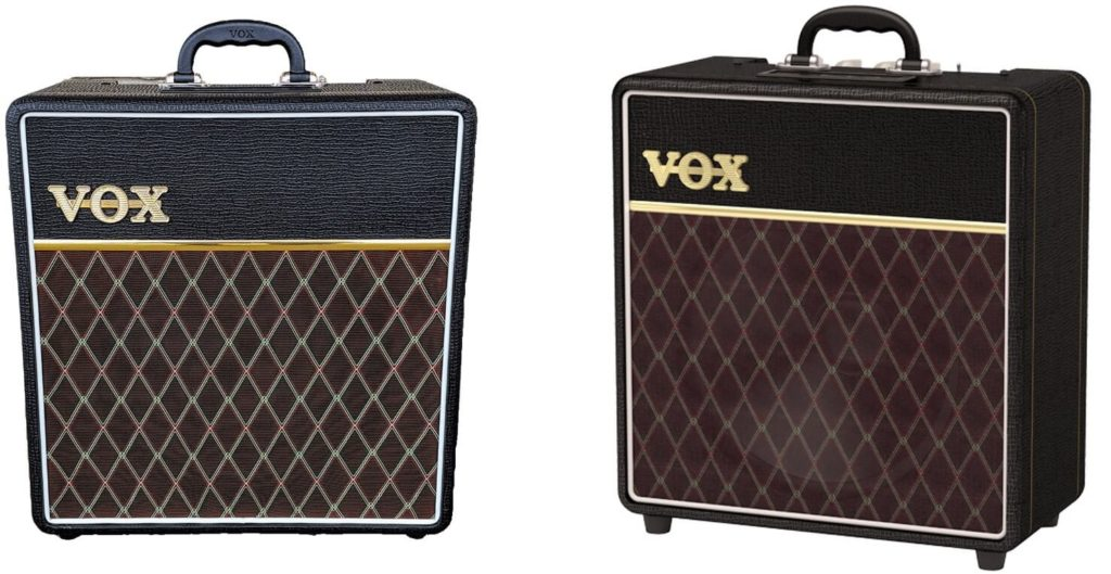 Vox AC4C1-12 ausgestattet mit der Celestion VX12 Custom, die nichts anderes als die Seventy 80 sind.
