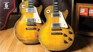 Dos Gibson Les Paul y un amplificado de la Era Ted McCarty