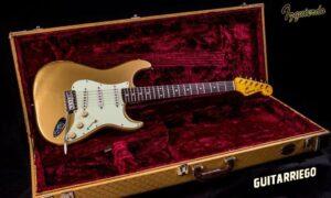 Guitarra Izquierdo Luthier Stratocaster Gold