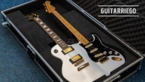 Guitarra Les-o-caster doble mango double-neck
