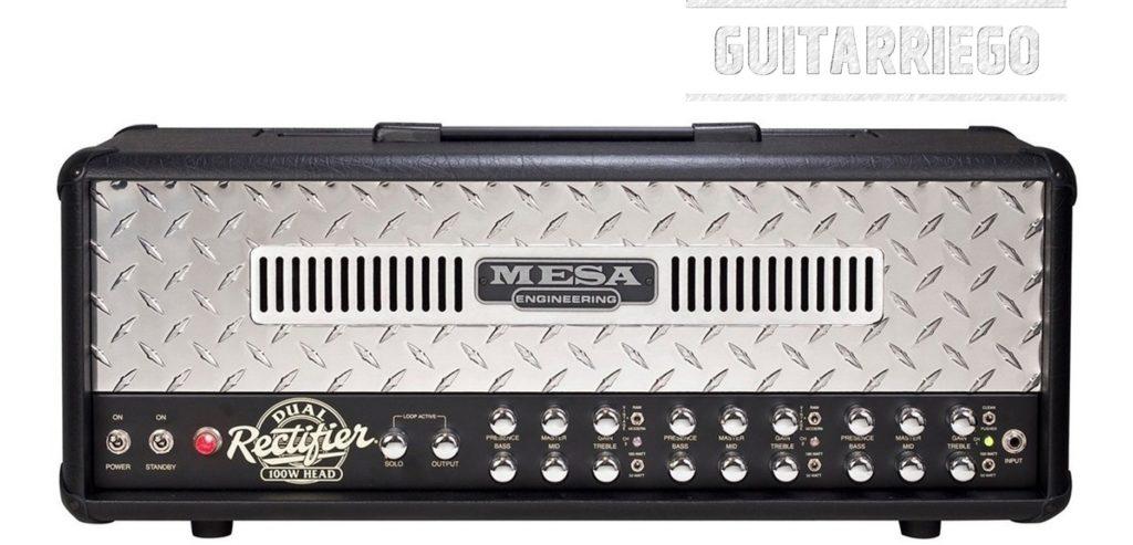 현대 클래식 기타 앰프 중 하나인 Mesa Boogie Dual Rectifier.