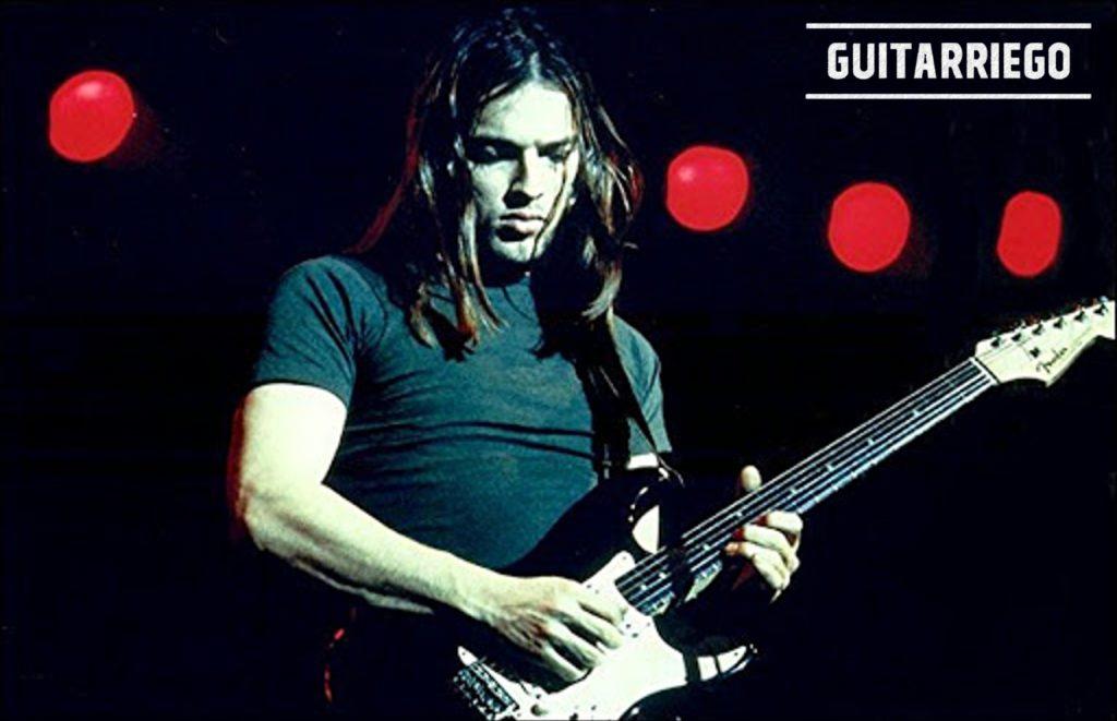 David Gilmour Black Strat con battipenna bianco e manico in palissandro