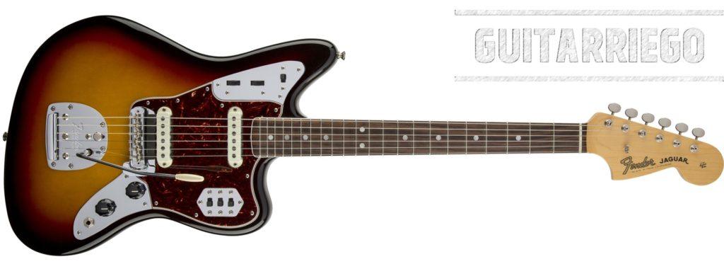 Fender Jaguar de cuerpo offset lanzada en 1962.