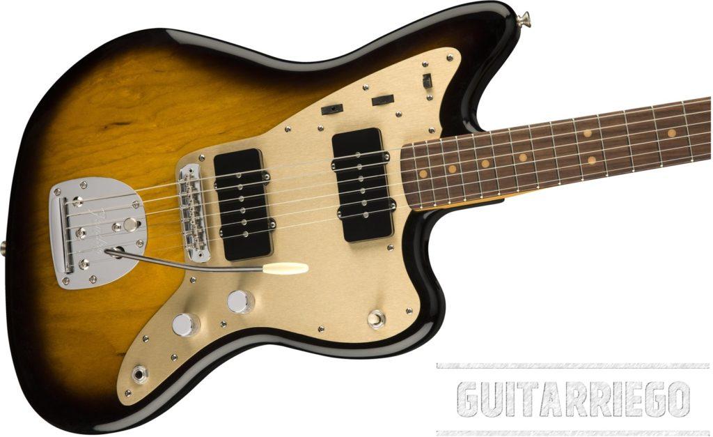 Fender Jazzmaster con controles paras sus dos circuitos Lead Mode y Rhythm Mode
