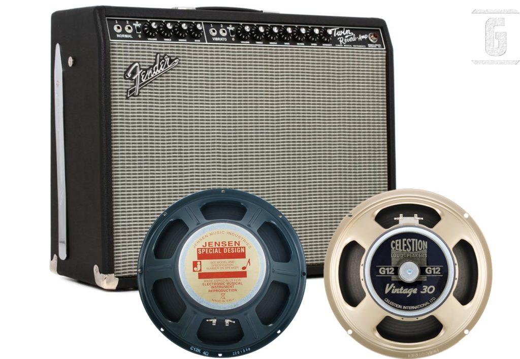 Elegir un altavoz o parlante de guitarra: Amplificador Fender Twin Reverb, Jensen y Celestion Vintage 30