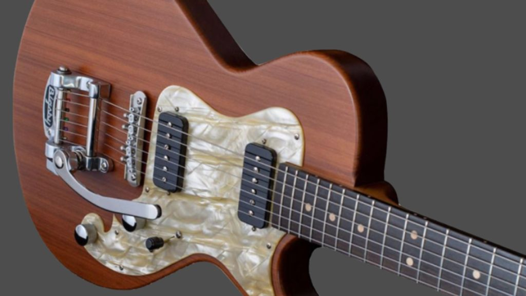 Grez Guitars The Smugglers Bridge Folsom con secoya de 1.000 años de antigüedad.