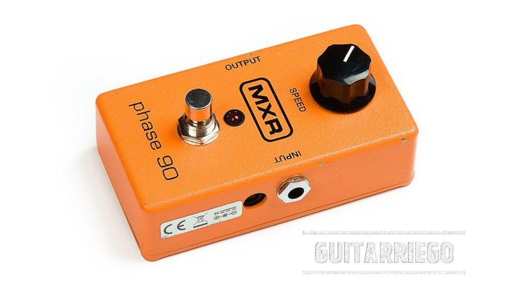 MXR Phase 90 Block-logo, pedal clásico de efecto de guitarra Phaser.