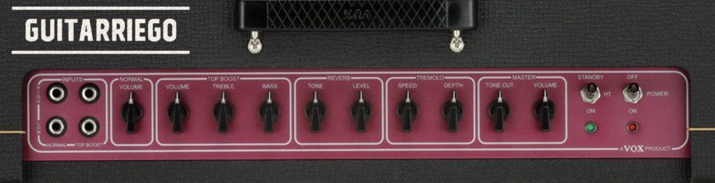VoxAC30C2コントロールパネル
