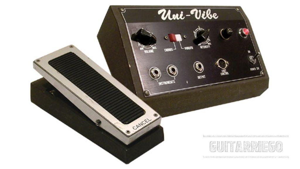 Uni-Vibe: un pedal de efecto clásico de guitarra