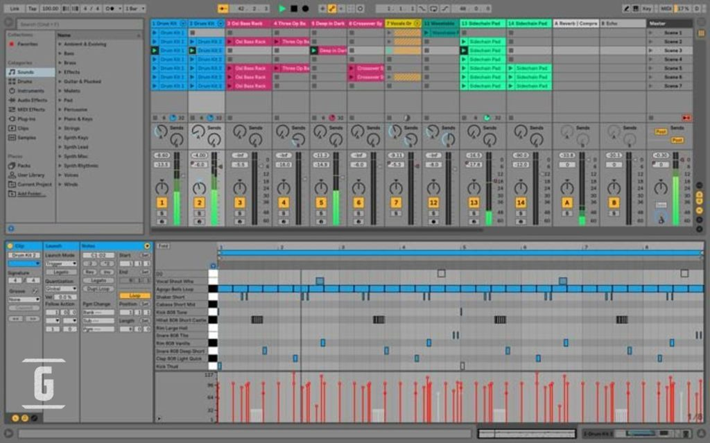 Ableton Live 9 Lite, one of the best programs to edit free music or guitars.