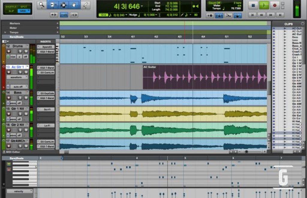 Avid Pro 工具第一,对于许多最好的程序,编辑免费/免费音乐或吉他在任何吉他手,音乐家触手可及。
