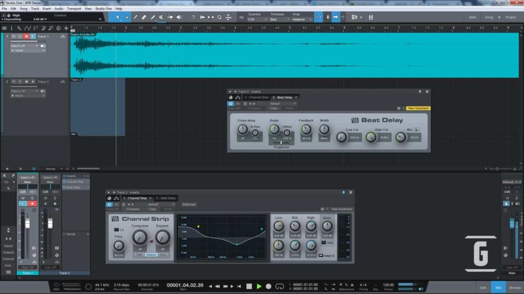Presonus Studio One Prime, one of the best free DAWs available to any guitarist, musician.