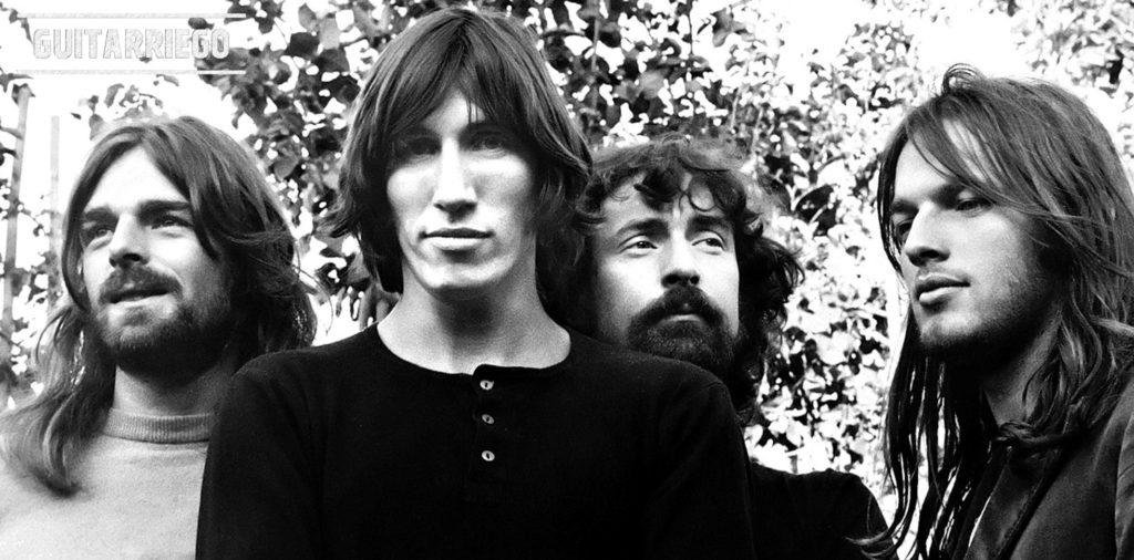 Rogers en primer plano en una foto de la banda Pink Floyd