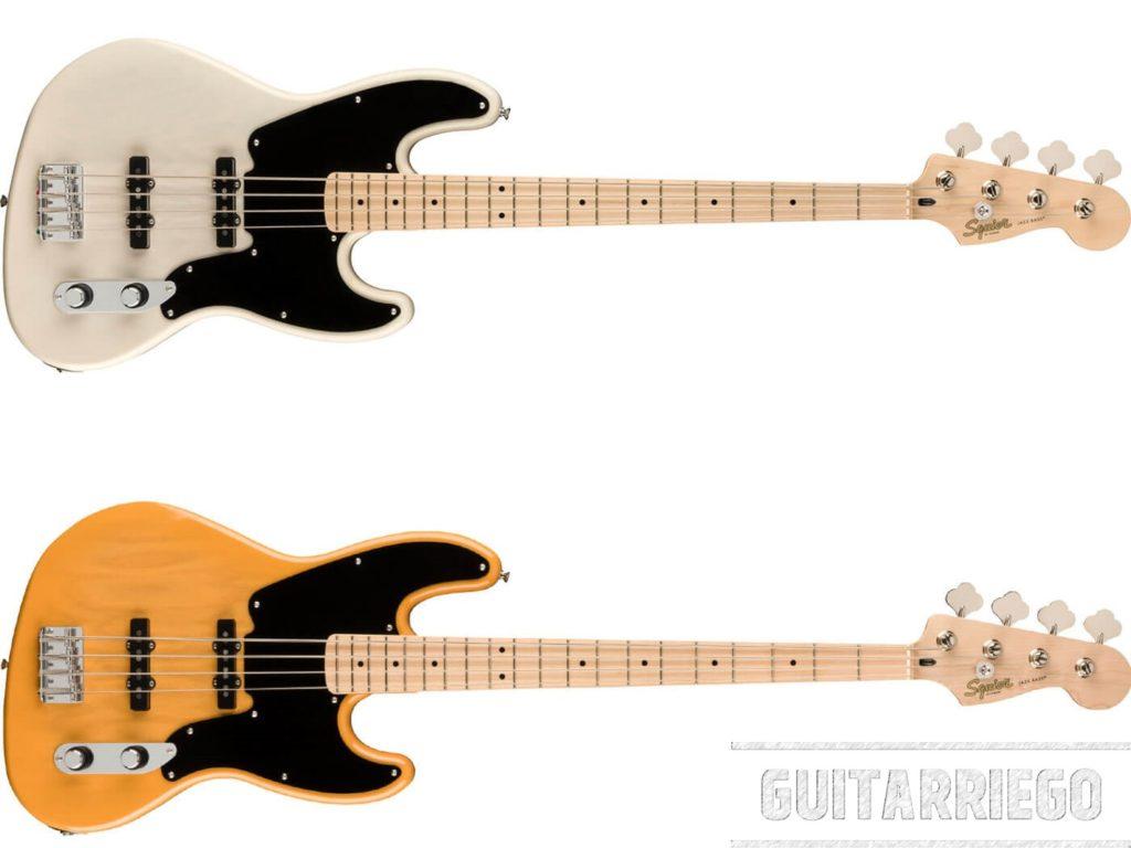 Squier Paranormal Jazz Bass '54, mezcla la versatilidad del bajo eléctrico J Bass y el look vintage de los 50's a un precio barato y accesible.