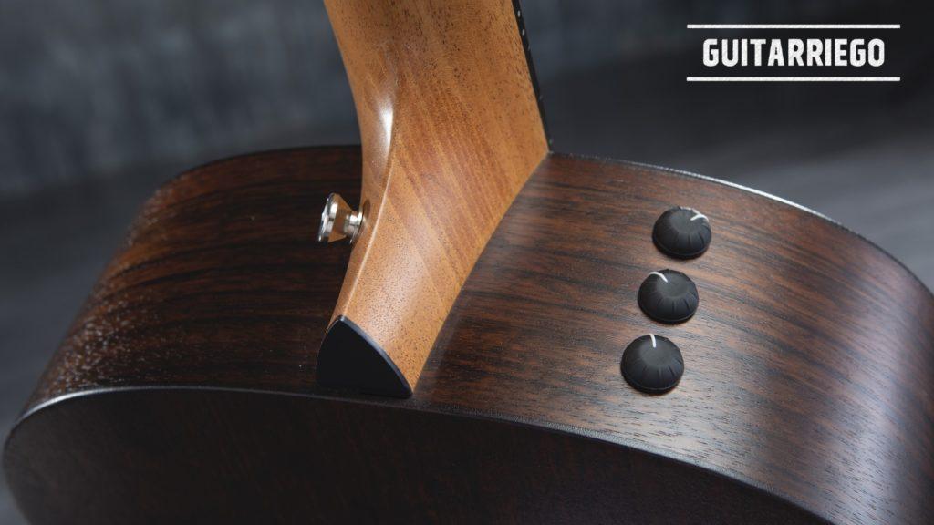 Elektroakustische Gitarrenelektronik.