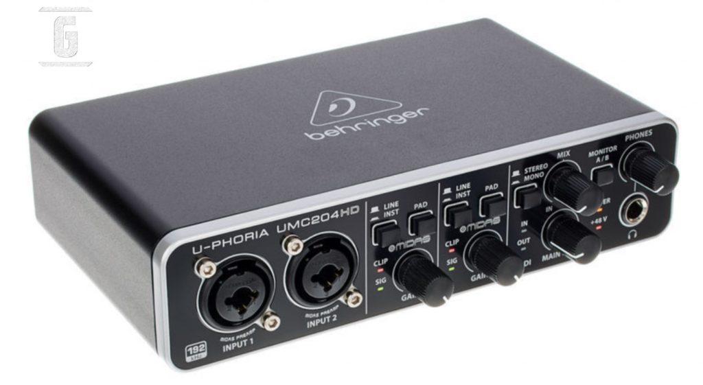 Behringer U-Phoria UMC204HD, ein sehr beliebtes Audio-Interface für E-Gitarre.