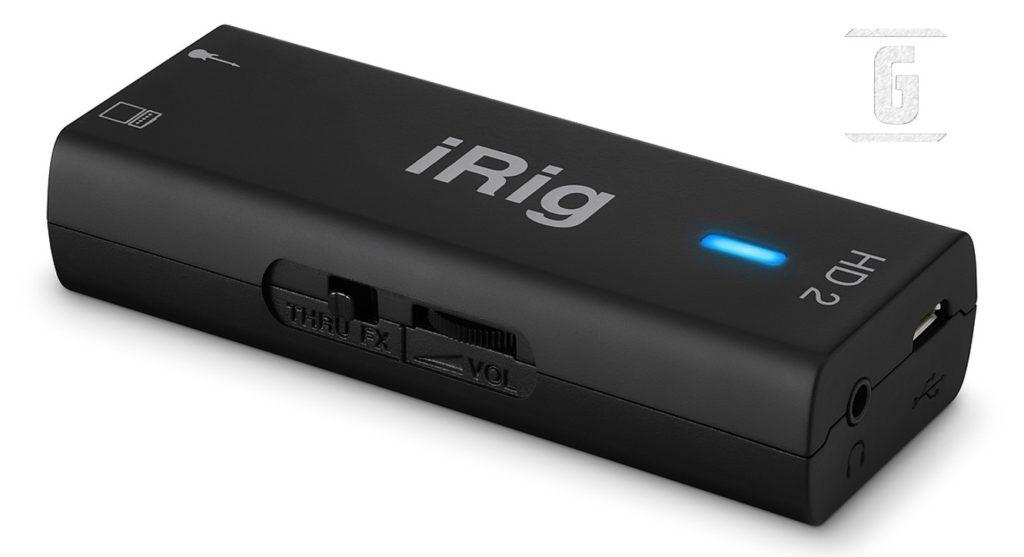 IK Multimedia iRig HD-2, das am häufigsten verwendete Audio-Interface für E-Gitarren.