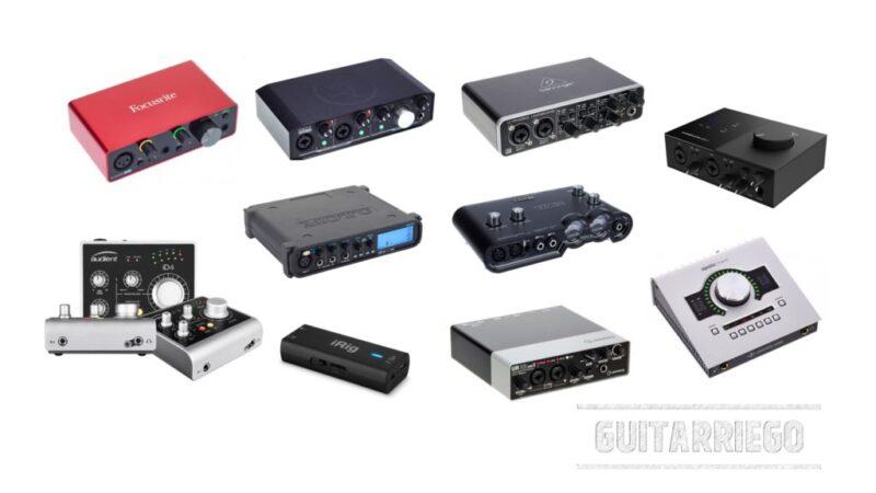 Las 10 mejores interfaces de audio para guitarra eléctrica
