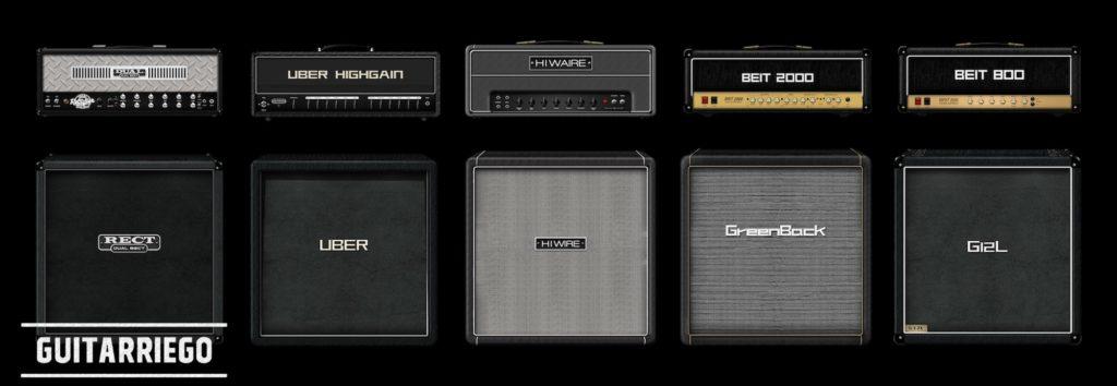 Opciones de amplificadores: cabezales y gabinetes
