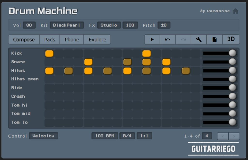 OneMotion Drum Machine: la migliore drum machine virtuale gratuita.