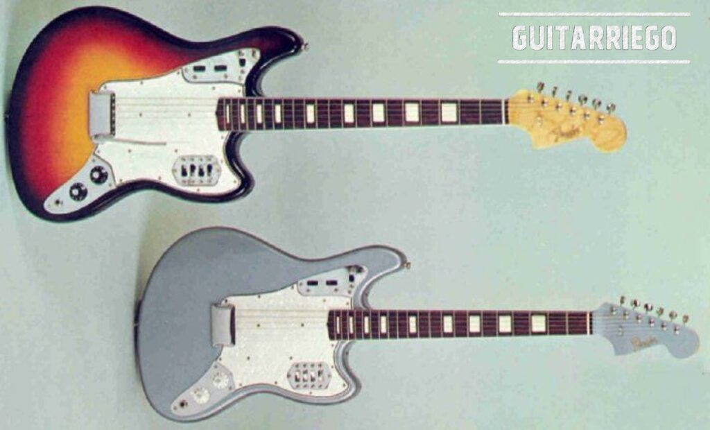 1965 Fender Catalog Photos with the Type I Marauder, in a new vibrato and hardtail version.