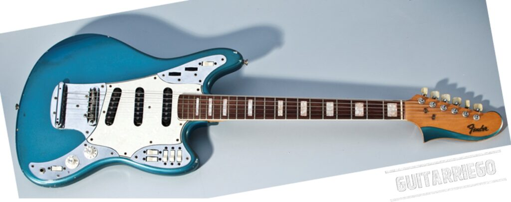 Fender Marauder, prototype Type II, with Stratocaster pickup configuration.