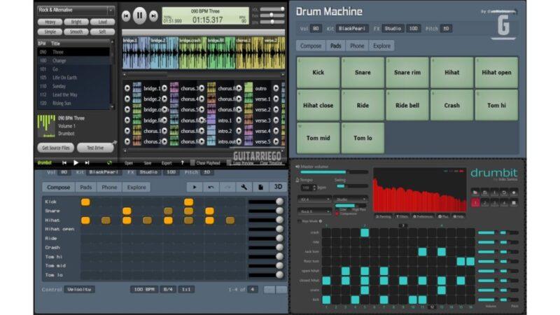 Las mejores cajas de ritmos online y gratuitas para guitarristas