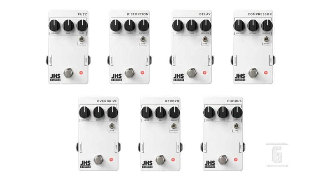 JHS Pedals 3 Series: Nueva línea de pedales de efectos baratos