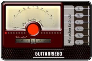 Afinador de guitarra online gratuito, perfecto para afinar tu instrumento gratis.