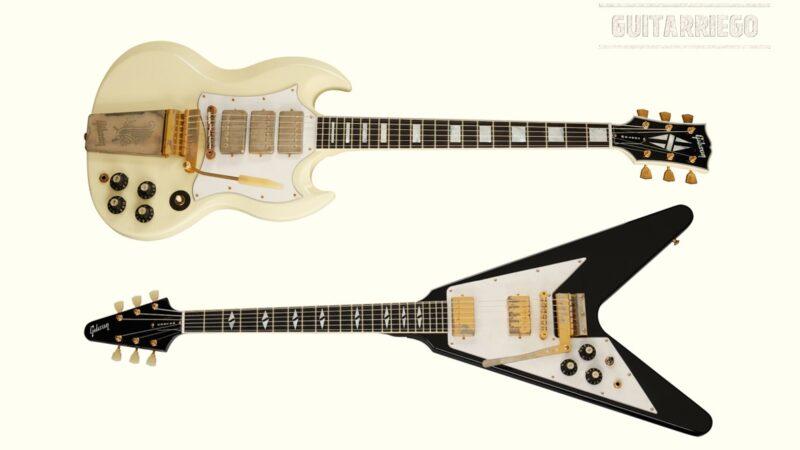 Gibson presenta Flying V 1969 y SG Custom 1967 Jimi Hendrix