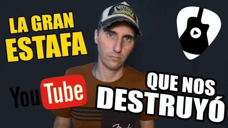 Estafas en Youtube contra los canales de clases de guitarra