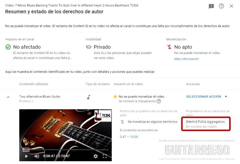 Estafas en Youtube contra los canales de clases de guitarra, como Tus Clases de Guitarra de Mario Freiria.