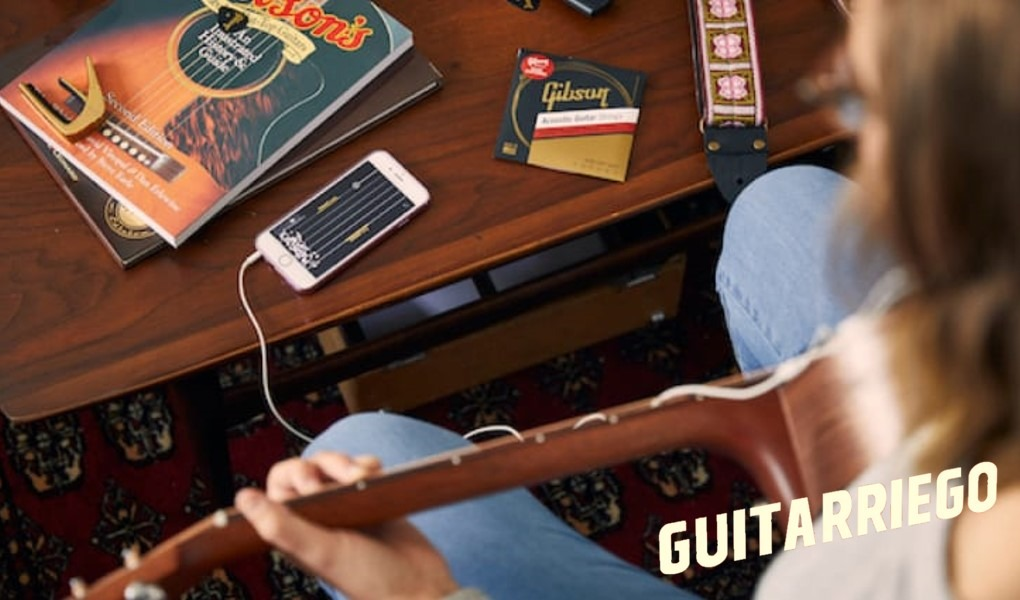 Gibson App: Gitarrenunterricht mit Audio Augmented Reality (AR) -Technologie
